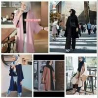 Shine Girl fashion - ( L & XL ) RENA CARDY LONG CARDI OUTER BAHAN WOL