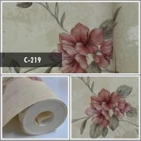 Wallpaper Sale Ready Floral Merah 53CM X 10M