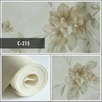 Wallpaper Sale Ready Floral Soft Krem 53CM X 10M