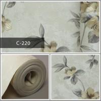 Wallpaper Sale Ready Floral Soft Krem Abu-abu 53CM X 10M