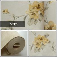 Wallpaper Sale Ready Floral Orange 53CM X 10M