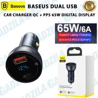 BASEUS CAR CHARGER DUAL OUTPUT QC PPS 65W DIGITAL DISPLAY SAVER MOBIL