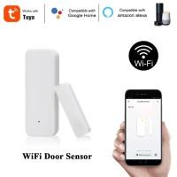 Alarm Pintu Jendela Magnet Wifi Tuya kompatibel Google Home & Alexa