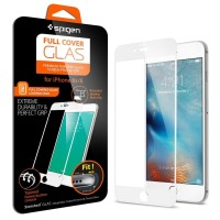 Spigen Full Cover Glass Iphone 6/6S - White
