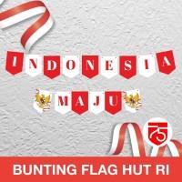 Banner Bunting Flag Indonesia Maju Dirgahayu RI Merah Putih 17 Agustus