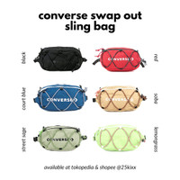 Tas Pinggang Waist Bag Converse Swap Out Sling Bag Original