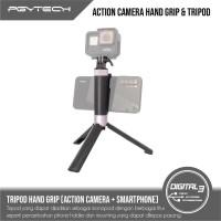 PGYTECH Hand Grip & Tripod + Phone Holder for Action Camera DJI GoPro