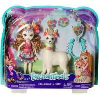 BONEKA ENCHANTIMALS Doll Playset - LLUELLA LLAMA & FLEECY