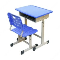 Yumi Set meja dan kursi belajar dengan roda dibawahnya