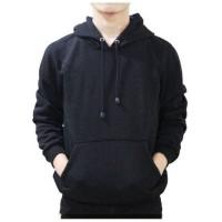 hoodie switer jaket cewek wanita cowok pria polos hitam biru dongker