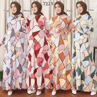 Baju Gamis Wanita Terbaru Jersey Korea Gamis Busui Jumbo 4L 7223