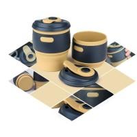 ACEBON Gelas Cangkir Lipat Silikon Foldable Travel Mug 350ml - GY530