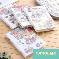RUMAUMA NOTE BOOK JAPANESE CAT CHARACTER | Buku Tulis Diary Bergaris - 1 PLAYING