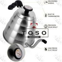 TOSO Kettle Buono Termometer Gooseneck Teko Leher Angsa Pour Over V60