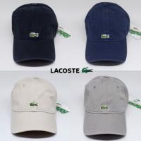 topi baseball LACOSTE croc logo import 5 warna ( UNISEX ) - Putih