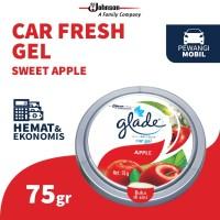 Glade Car Gel Apple 75gr - Pengharum Mobil