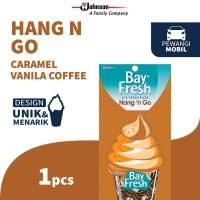 Bayfresh Hang n' Go Vanilla Caramel Coffee - Pengharum Mobil