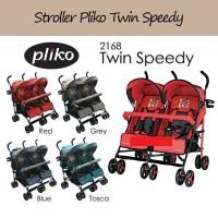 Stroler Twin Pliko Speedy Stroller Kereta Dorong Anak Bayi Kembar