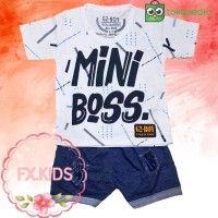 FX.KIDS setelan anak bayi laki laki G2-BOY mini boss celana denim