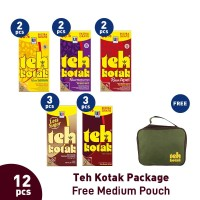 Teh Kotak Package (12pcs) Free Medium Pouch