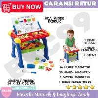 A54 Mainan Edukasi Anak Cewek Laki Laki Meja Belajar Papan Tulis Anak