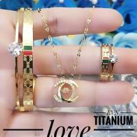 titanium set perhiasan 15a42