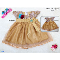 Baju Dress Anak Perempuan /Gaun Dress Anak Balita-dress krystal kids