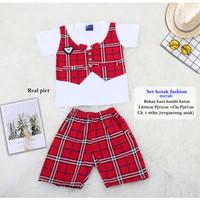 Setelan Baju Anak Laki laki /Baju Setelan Balita-set kotak fashion