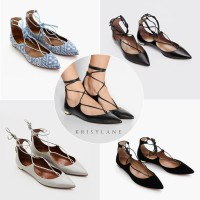 Flat Shoes Wanita | Aquazzura Christy Ballerina
