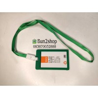 Tali ID Card Holder Satu Set / Name tag id card / Tali ID Card HIJAU