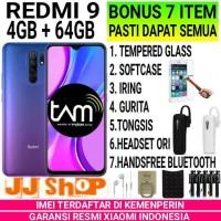 XIAOMI REDMI 9 4/64 RAM 4GB ROM 64GB GARANSI RESMI - GREY BONUS 4