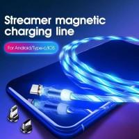 Kabel Data / Kabel Charger LED Magnetic 3in1