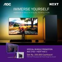 Bundle Promo Monitor Aoc 27G2 + NZXT HUE 2