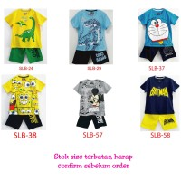 Baju Setelan Anak Laki Laki Karakter 7-10 Tahun Murah