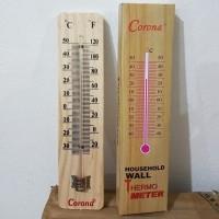 Thermometer Ruangan Kayu