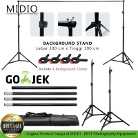 Portable Background Stand Midio 3M untuk Background Studio Foto