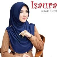 HIjab ISAURA Jersey / Jilbab Khimar Kancing / Kerudung Instan Hits