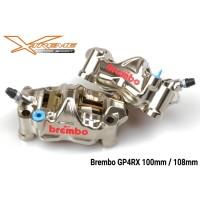 Kaliper Brembo Monoblock GP4RX 108 MM Sepasang SeT Right Left