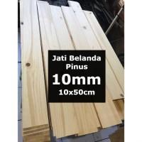 Kayu PINUS 10mm Sheet 10cmx50cm Jati Belanda