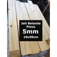 Kayu PINUS 5mm Sheet 10cmx50cm Jati Belanda