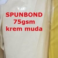 Spunbond 75gsm KREM MUDA Kain Bahan Puring Pur