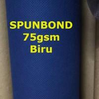 Spunbond 75gsm BIRU Kain Bahan Puring Pur