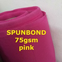 Spunbond 75gsm PINK Kain Bahan Puring Pur