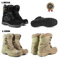 Sepatu Boot PDL Pria Walkers Cordura 8inci Sepatu Safety Ujung Besi