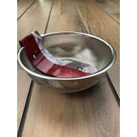 S/S Punching Basket 22 Cm (Rem-Z1222) / Saringan Mangkuk SS