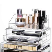 Rack Makeup Acrylic Makeup 3 Laci , Tempat Lipstik - Rak Makeup Besar