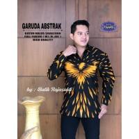 Kemeja Batik Pria Dewasa Garuda Abstrak Lengan Panjang By Raja Sakti