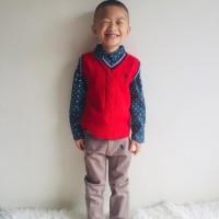Setelan anak kemeja vest celana panjang size 6-9 bulan sampai 7 tahun