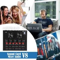 Soundcard V8s Mixer Audio USB External Plus Bluetooth Original