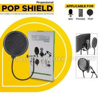 Pop Shield Double Layer Filter Mic For Broadcasting and Recording